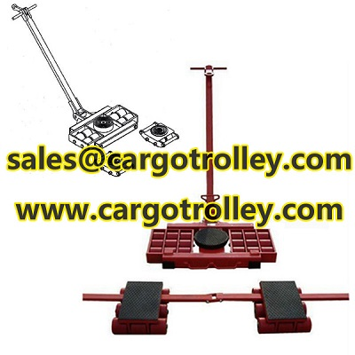 Heavy duty load moving skates details with instruction