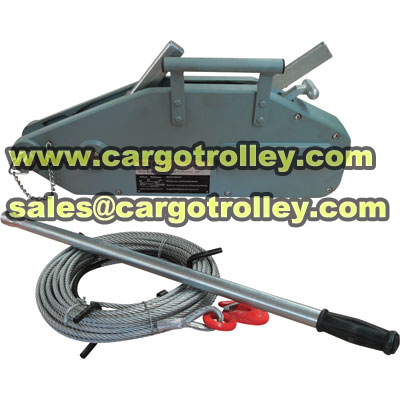Wire rope winch applications and instruction