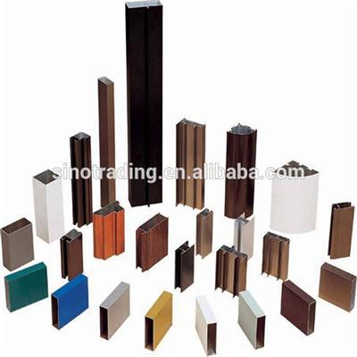 Powder Coating Building Aluminum Curtain Profiles