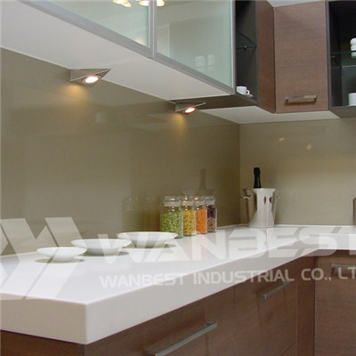Solid Surface White Kitchen Counter