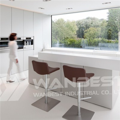 Hi Macs White Open Plan Kitchen Counter