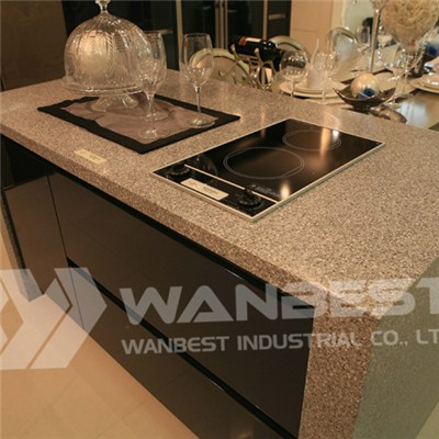 Tristone Grey Kitchen Island