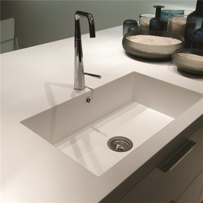 Staron Kitchen Counter Top White Sink