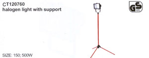 Halogen light with support