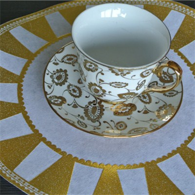 Gold Round Placemat