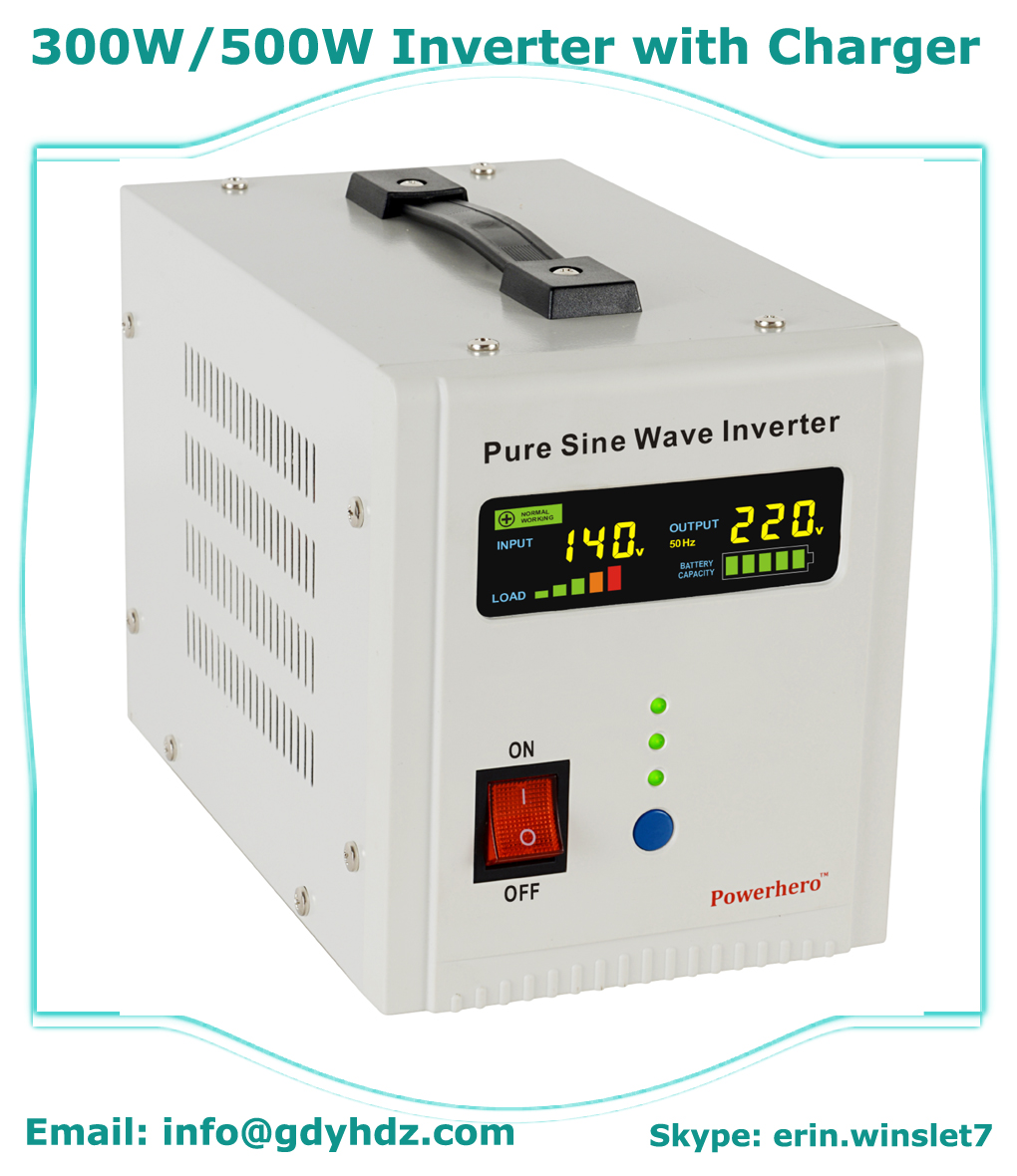 300W-3.5KW pure sine wave power inverter/UPS with intelligent 3-stage charger