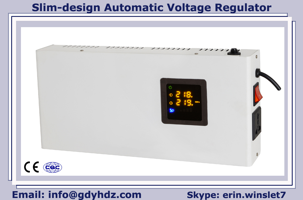1KVA-10KVA Slim design  AVR/voltage stabilizer with toroidal transformer/colorful display