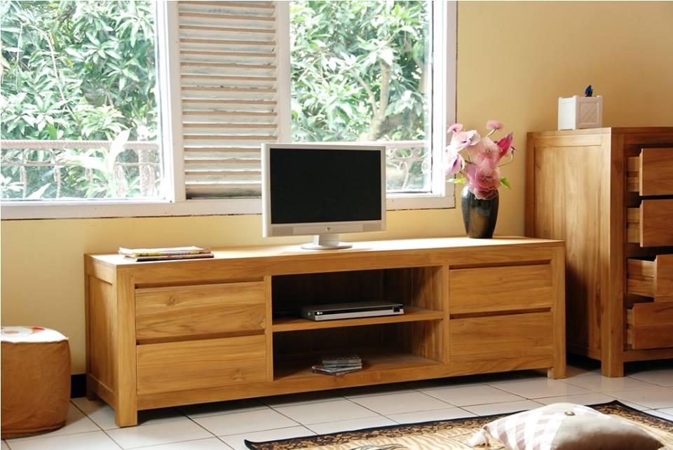 Teak Wood Tv Cabinet Teak Tv Cabinet Kedai Perabot Jati