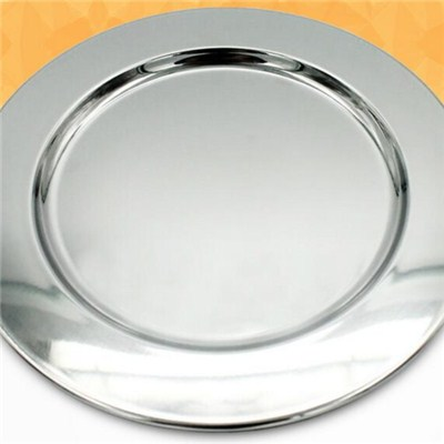 WT006 Stainless Steel Barware Customized Serving Tray Wine Tray Bar Tray Round Tray With Mirror Finish