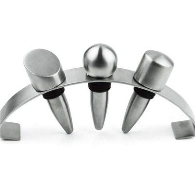 BT013 Stainless Steel Barware Champagne Bottle Stopper with Stand