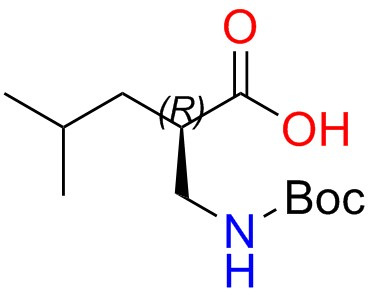 Boc-(R)-2-(aminomethyl)-4-methylpentanoic Acid