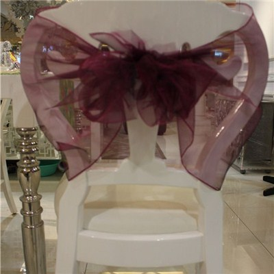 Organza Chair Sash And Bow