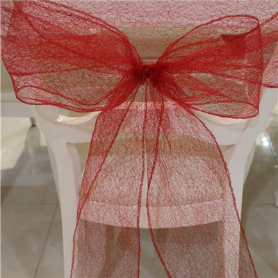 Mesh Chair Sash And Bow