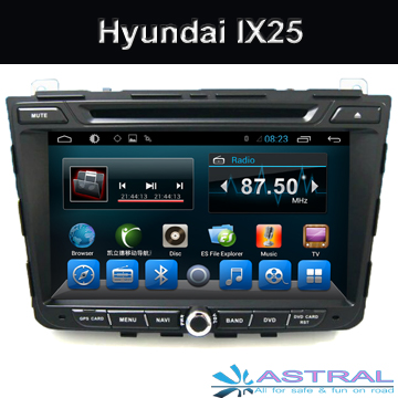 2 Din Android Car Radio GPS DVD Player for Hyundai IX25 with 3G Bluetooth CD DVD TV