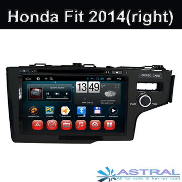 2 Din Android Car Radio for Honda Fit 2014 Right Car GPS DVD Player Built in Quad Core System OBD Mirror-Link