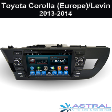 Android Car GPS Navigation for Toyota Corolla (Europe) 2013-2014 / Levin  2013-2014 Car Radio BT 3G Wifi