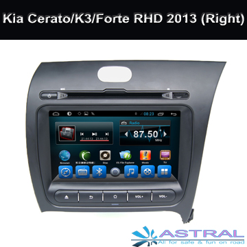 8 Inch 2 Din Android Car Radio Multimedia Player for Kia Cerato / K3/ Forte RHD 2013 (Right) Car DVD BT OBD CD Wifi