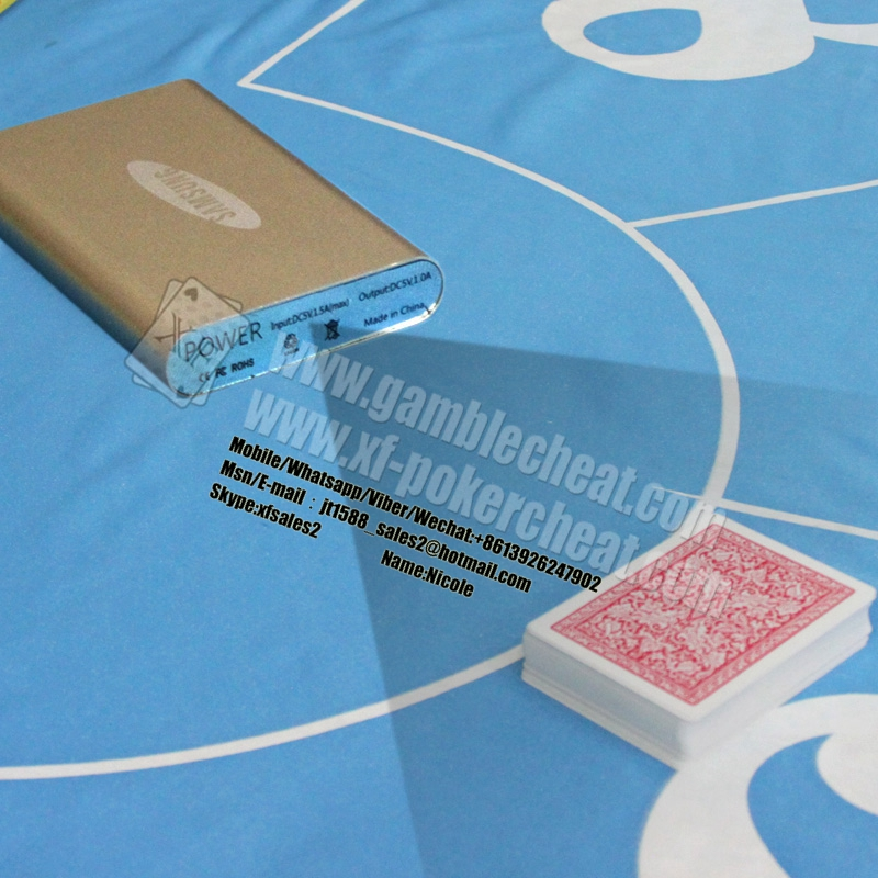 Mobile Power Bank Camera With 3 Lens For Poker Scanner To Scan Side Marks Cards