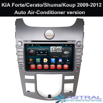 Android Quad Core Car DVD Player for KIA Forte / Cerato / Shuma / Koup 2009-2012 with Car Radio Bluetooth Wifi TV