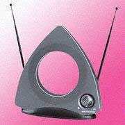 Color TV Indoor Antenna with 75-Ohm Output Impedance
