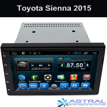 Android4.4 Quad Core Car GPS Navigation DVD Player for TOYOTA Sienna 2015 Car Radio BT 3G Wifi