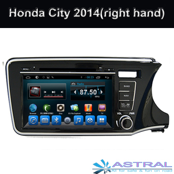 2 Din Quad Core Car Radio GPS DVD Player for Honda City 2014 Right With OBD MP3 Mirror-Link