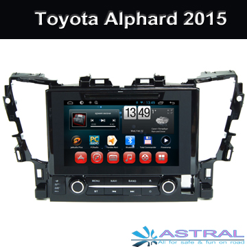 Android4.4 Car DVD Central Multimedia Player for Toyota Alphard 2015 Car GPS Navigation 3G CD TV OBD Bluetooth