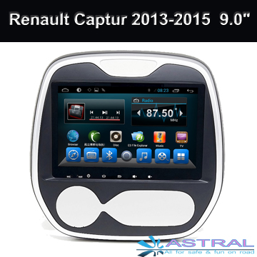 9 Inch Android4.4 Car GPS Navigation for Renault Captur auto DVD Player with Quad Core System