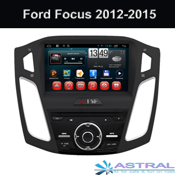 1024*600HD Screen Android4.4 Car DVD Player for Ford Focus 2015 Model Quad Core Car GPS Navigation System Support OBD 3G Wifi BT