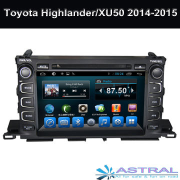 Android4.4 Car DVD Player for Toyota Highlander / Series / Kluger 2014-2015 Car Radio 2G RAM Video Player