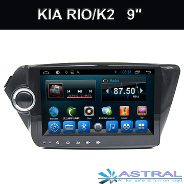 2 Din Android Quad Core Auto GPS Navigation for Kia K2 Car DVD Multimedia Player Support Car Radio Bluetooth Wifi 3G