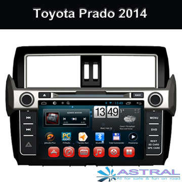Toyota Quad Core HD Android Car DVD GPS Player for Toyota Prado 2014 Radio Bluetooth Support 3G Wifi DVR