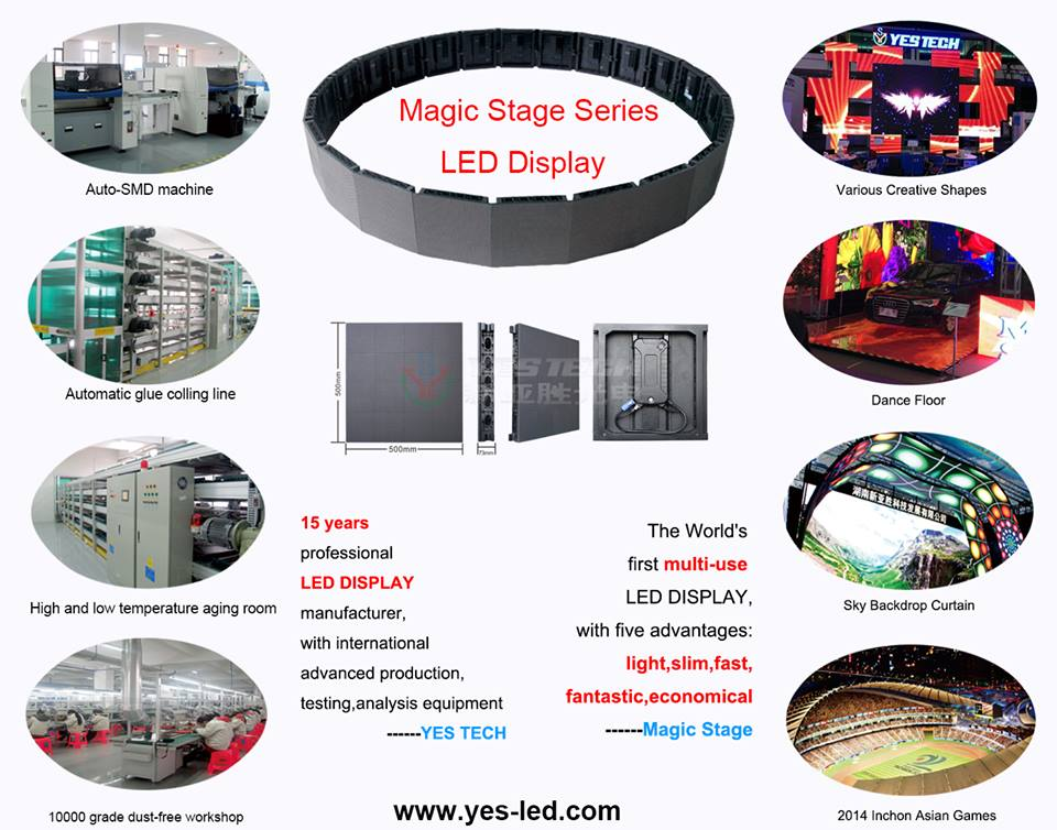 slim indoor rental p4 led display screen