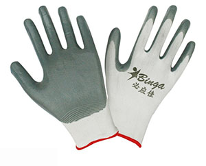 Nitrile Coated 13G Polyester Shell Safety Glove