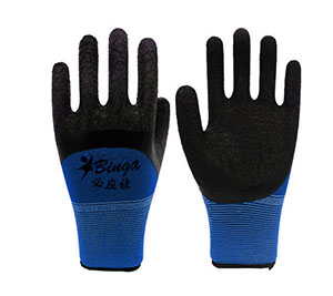 China Latex Half Coated 13G Polyester Safety Glove