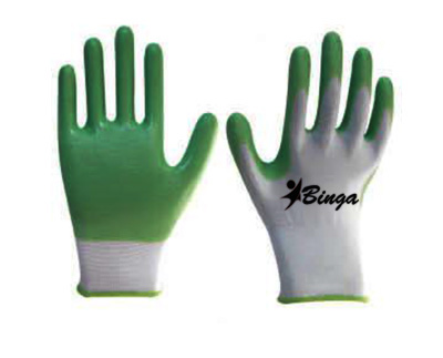Laminated Bleached 7G/10G T/C Shell Safety Glove