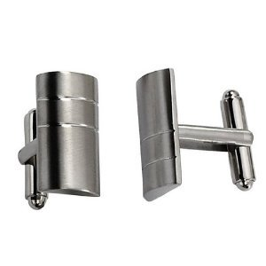 Classic Design Titanium Cuff Links 3mm Solid Surface And Simple Lines TTC1005