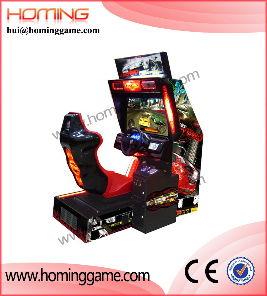 3D Motion racing car simulator /3d car driving simulator arcade game machine for sale(hui@hominggame.com)