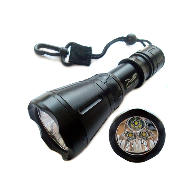 SCUBA TOOKE D4 3*T6 LED 3000Lumen light Night Diving Flashlight Dive Torch