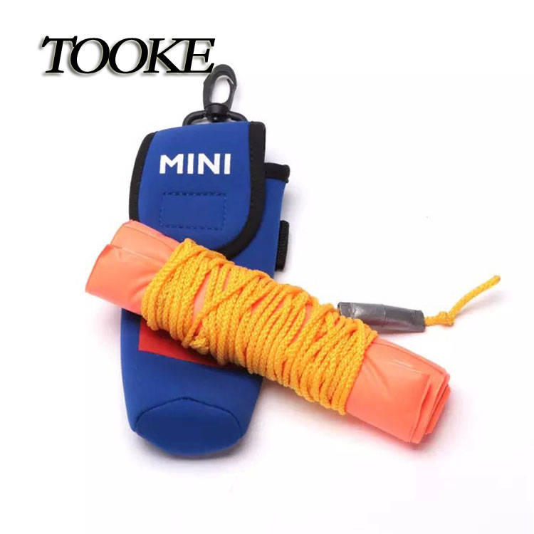 TOOKE Surface Marker Inflatable Dive Buoy Dive Rite Scuba Diving SMB See Me Float Tube Orange with blue bag