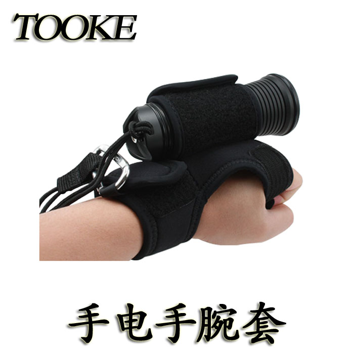 TOOKE Hand-Free Light Holder for SCUBA Diving Universal Flashlight underwater(No including the flashlight)