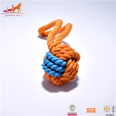 Monkey Fist Knot Dog Rope Toys Colorful