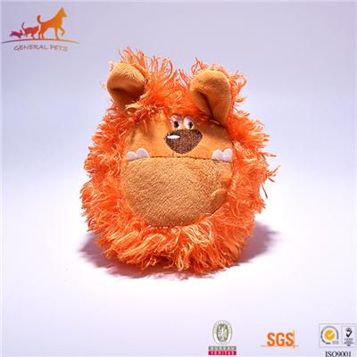 Lion Face Plush Dog Toy With Squeaker