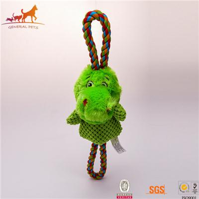 Plush Fetch Toy And Tug Of War Rope Lovely Dinosaur