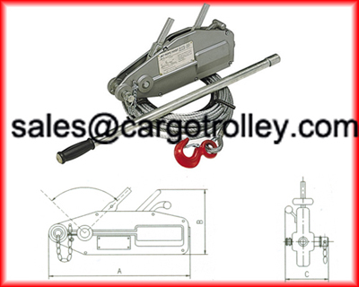 wire rope pulling hoist instruction and details