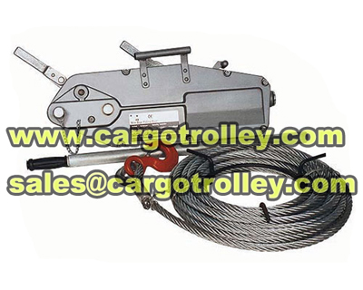 wire rope pulling machines price list and instructions