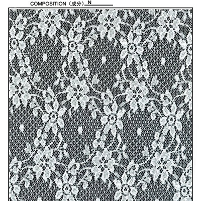 White Nylon Lace Fabric (R5038)