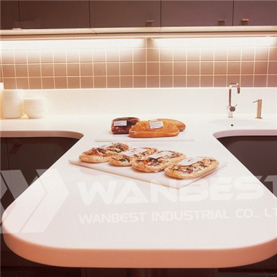 Corian-white Peninsular Kitchen