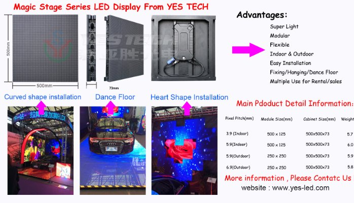 HD Full Color P6 Stage Led Screen outdoor Video for Concert