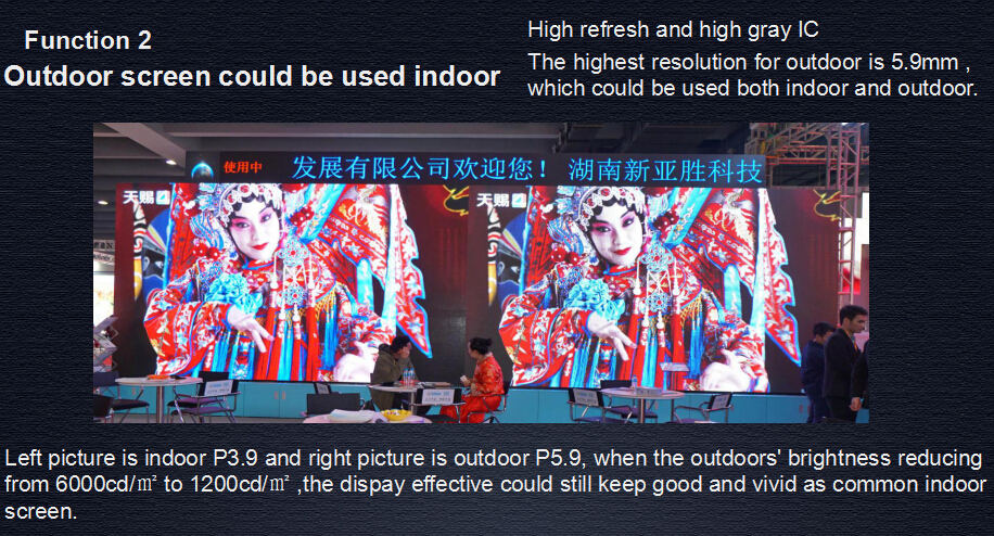 stage/advertising/sports P7 rental outdoor led screen curved